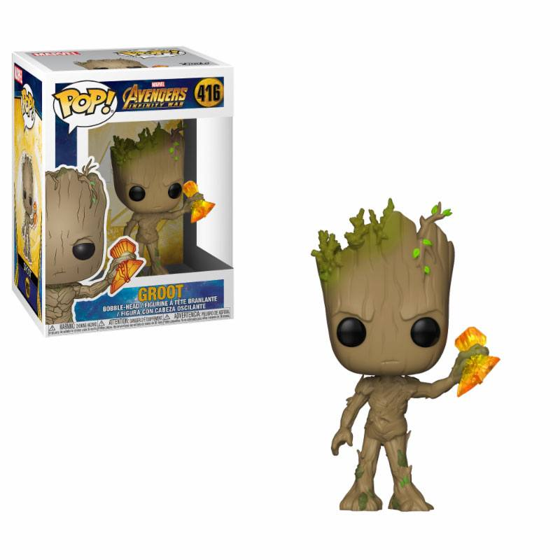 Funko POP: Avengers Infinity War - Groot with Stormbreaker 10 cm