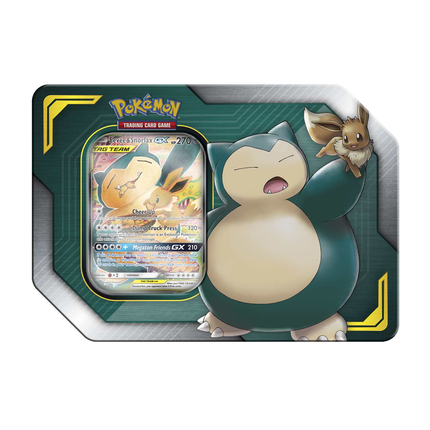 Pokémon TCG: TAG Team Tin - Eevee & Snorlax