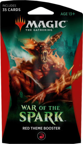 Magic the Gathering TCG: War of the Spark - Theme Booster RED