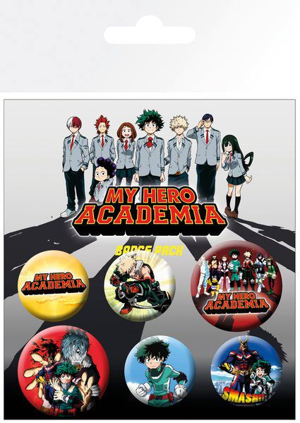 Odznak My Hero Academia Pin Badges 6-Pack Mix
