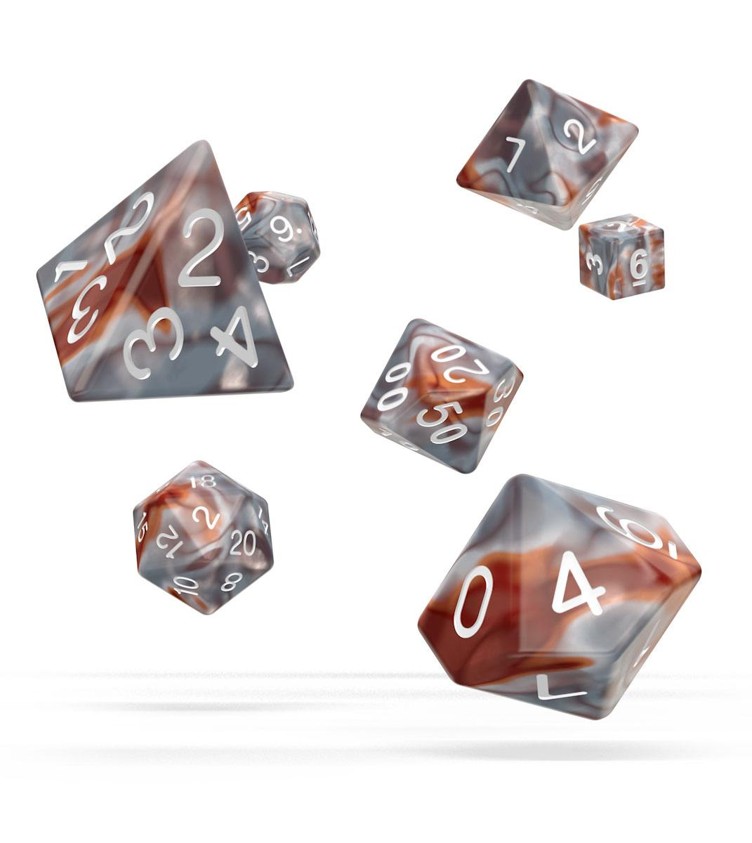 Kocka Set (7) - Oakie Doakie Dice RPG Set Gemidice - Silver-Rust