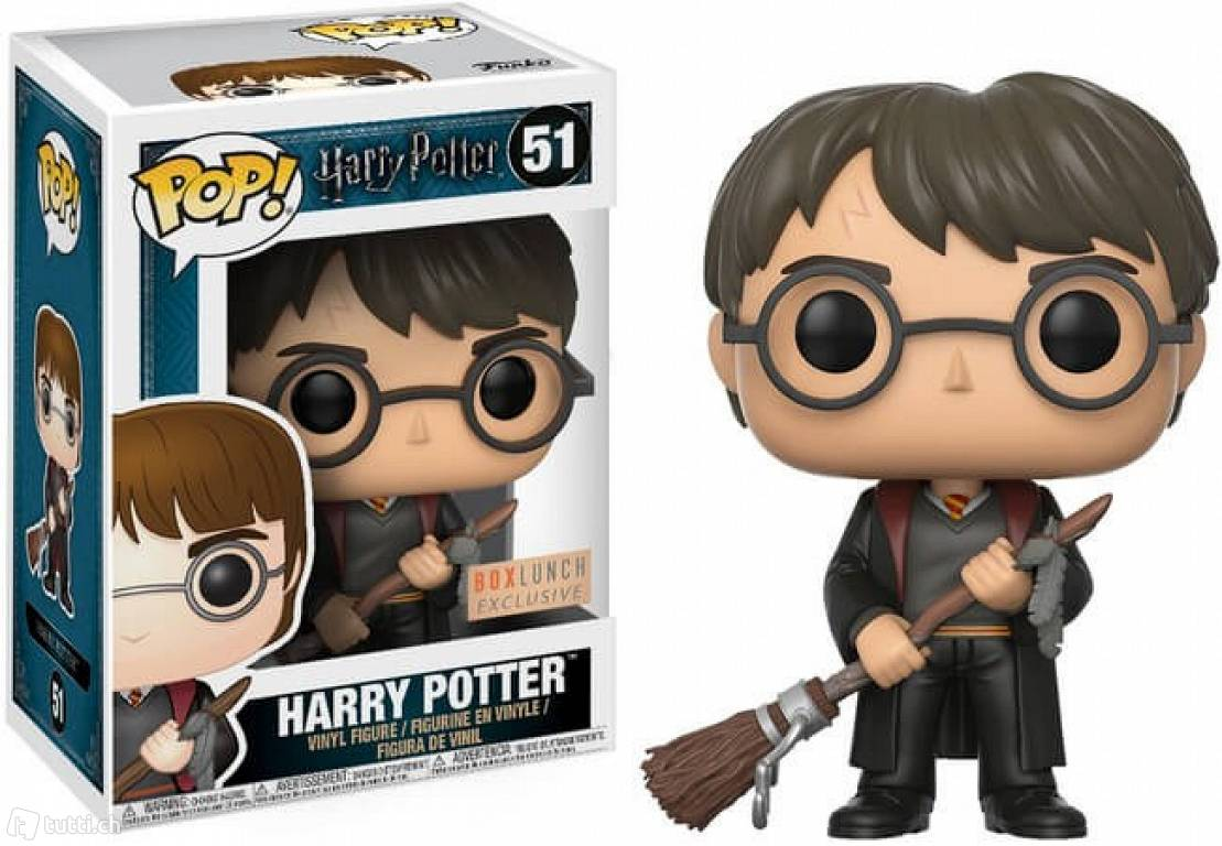 Funko POP: Harry Potter - Harry with Firebolt & Feather 10 cm