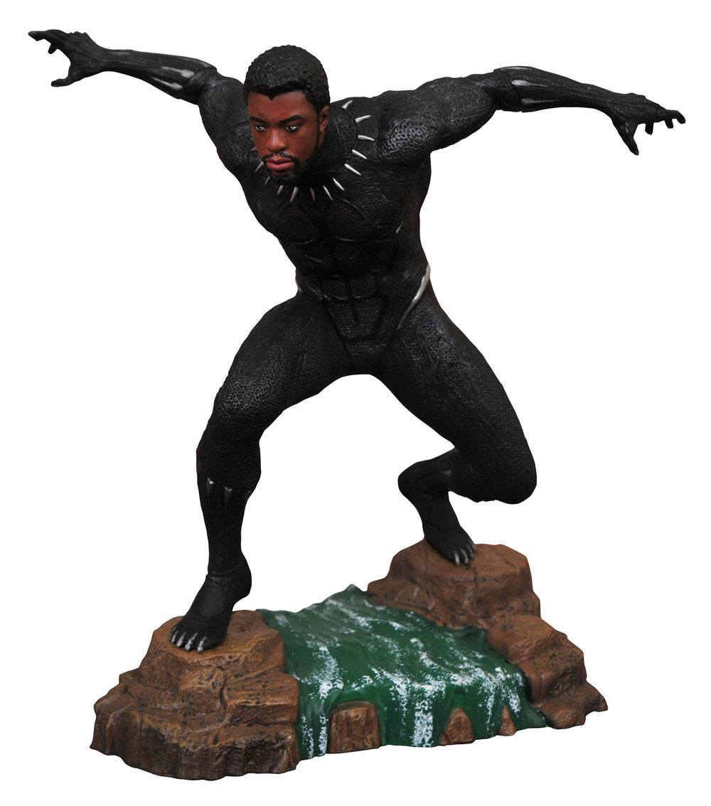 Black Panther Marvel Movie Gallery PVC Statue Black Panther Unmasked 23 cm