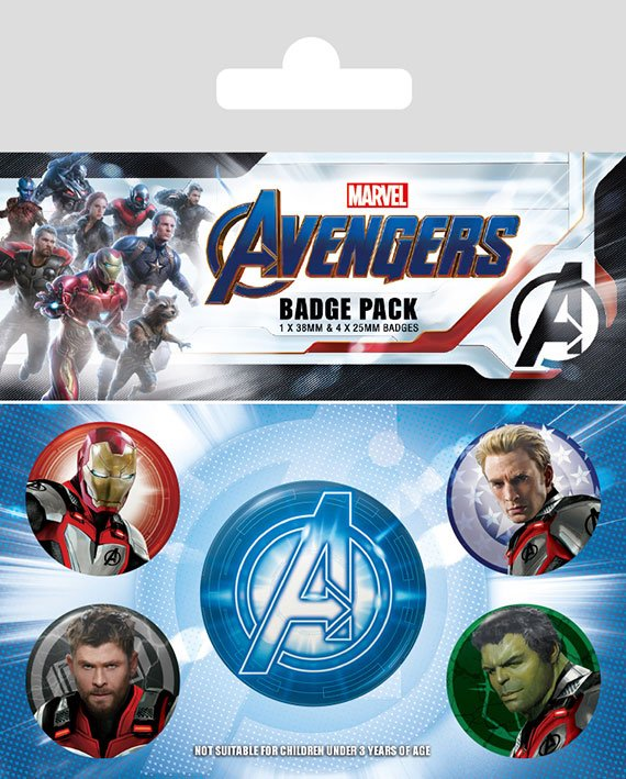 Odznak Avengers: Endgame Pin Badges 5-Pack Quantum Realm Suits