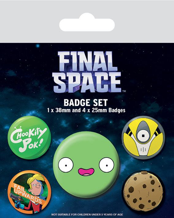 Odznak Final Space Pin Badges 5-Pack Space