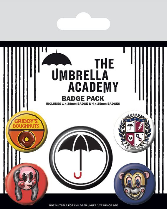 Odznak The Umbrella Academy Pin Badges 5-Pack Super