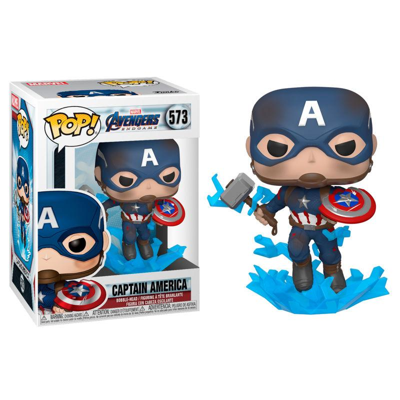 Funko POP: Avengers Endgame - Captain America w/ Broken Shield & Mjölnir 10 cm