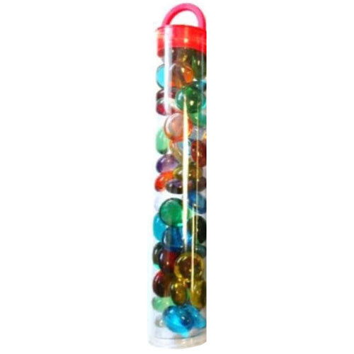 "Kamienky Glass Stones (40/4"" tube) - Assorted Translucent / Mix priesvitné"