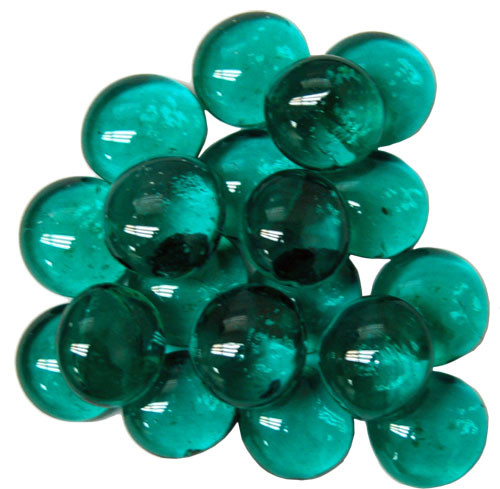 "Kamienky Glass Stones (40/4"" tube) - Teal"