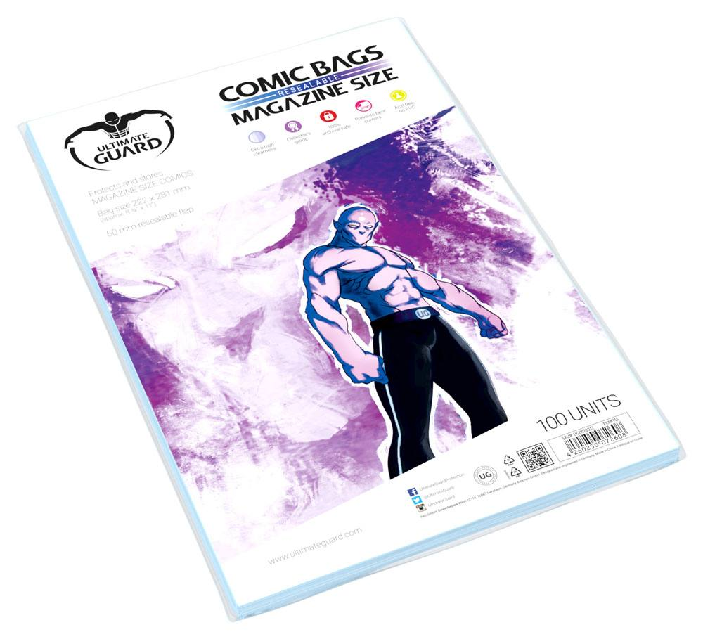 Obal na komiksy Ultimate Guard Comic Bags Resealable Magazine Size (100)
