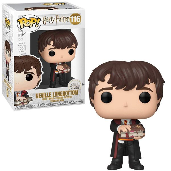 Funko POP: Harry Potter - Neville with Monster Book 10 cm