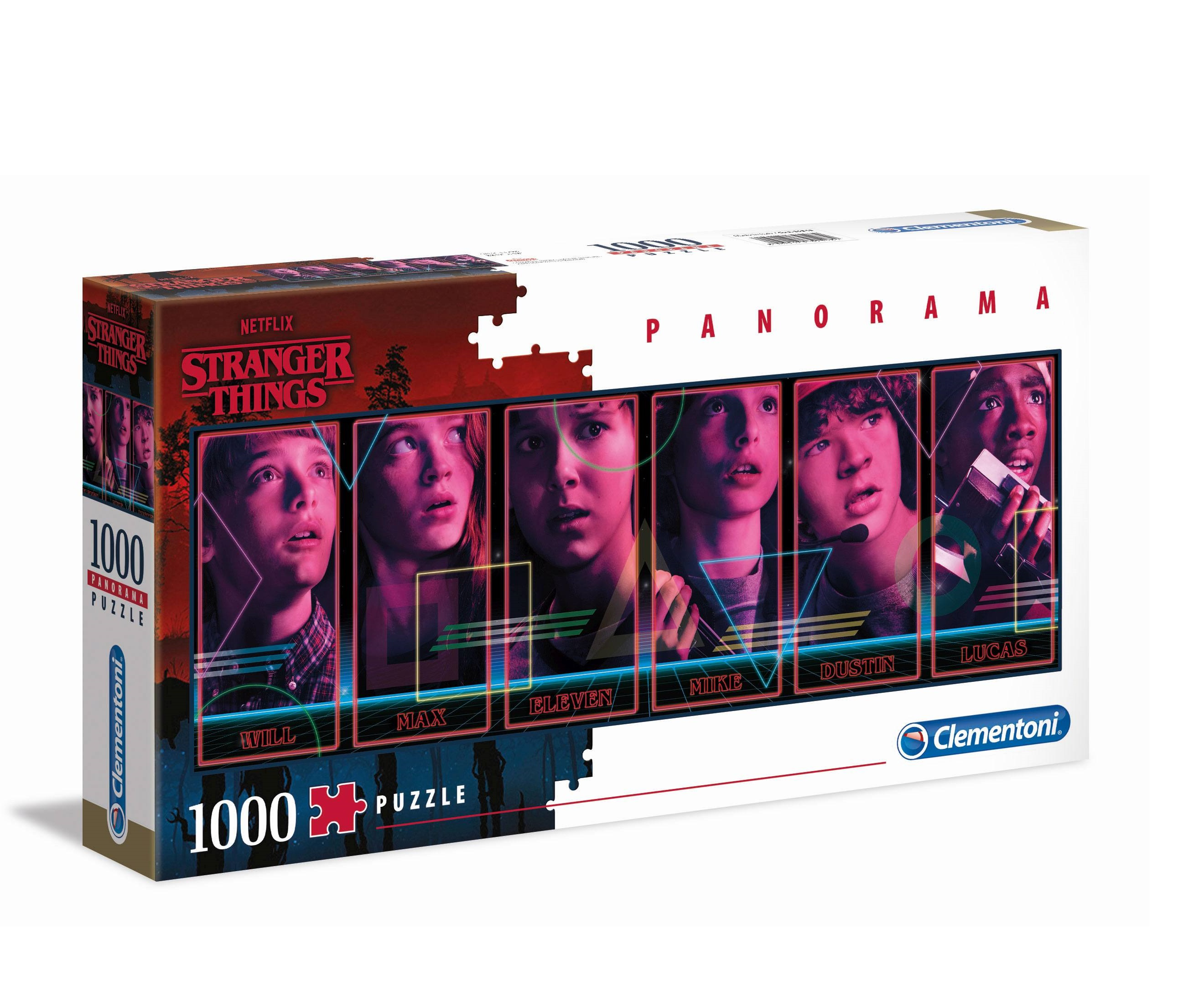 Puzzle - Stranger Things Panorama Puzzle Characters