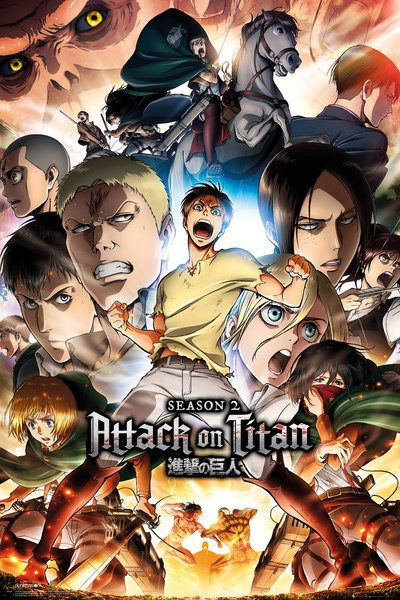 Plagát Attack on Titan Season 2 Collage Key Art 61 x 91 cm
