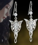 Náušnice - Lord of the Rings Earrings Arwen´s Evenstar (Sterling Silver)
