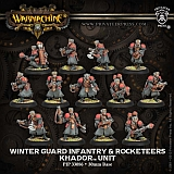 WM Khador - Winter Guard Infantry Unit & Rocketeers