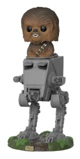 Funko POP: Star Wars - Chewbacca with AT-ST 10 cm