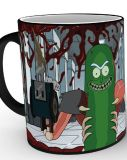 Šálka Rick and Morty Heat Change Mug Pickle Rick