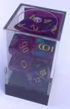 Kocka Set (7) - Signature - royal purple,gold / borealis