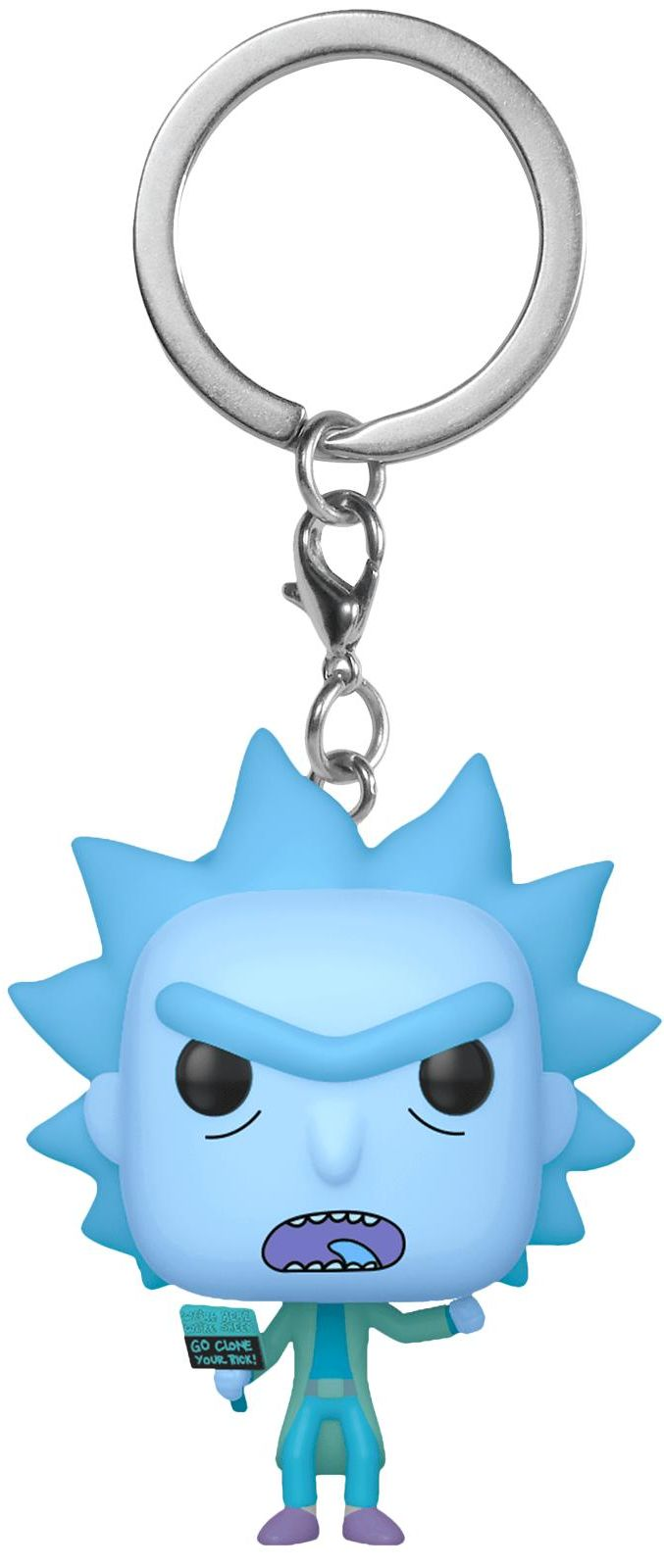 Kľúčenka POP: Rick and Morty - Hologram Rick Clone 4 cm