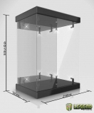Display Case with Lighting for 1/6 Action Figures (black)