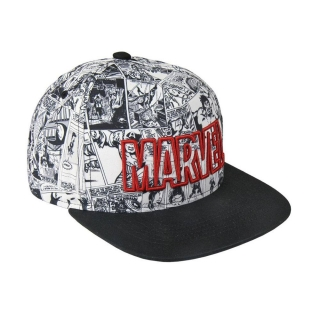 Čiapka Marvel Snapback Cap Comic Black & White