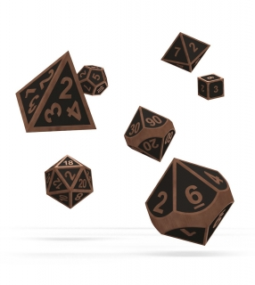 Kocka Set (7) - Oakie Doakie Dice RPG Set Metal Dice - Matrix