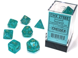 Kocka Set (7) - Borealis - teal/gold Luminary