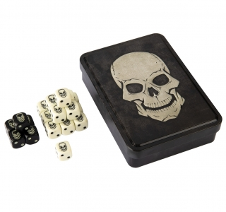 Kocka Set (20) - D6 Skull Dice Tin