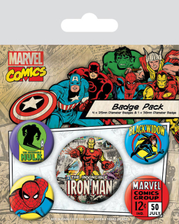 Odznak Marvel Pin Badges 5-Pack Iron Man