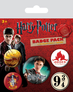 Odznak Harry Potter Pin Badges 5-Pack Gryffindor