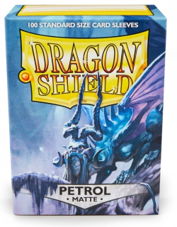 Obal Dragon Shield 100ks MATTE – modrý PETROL